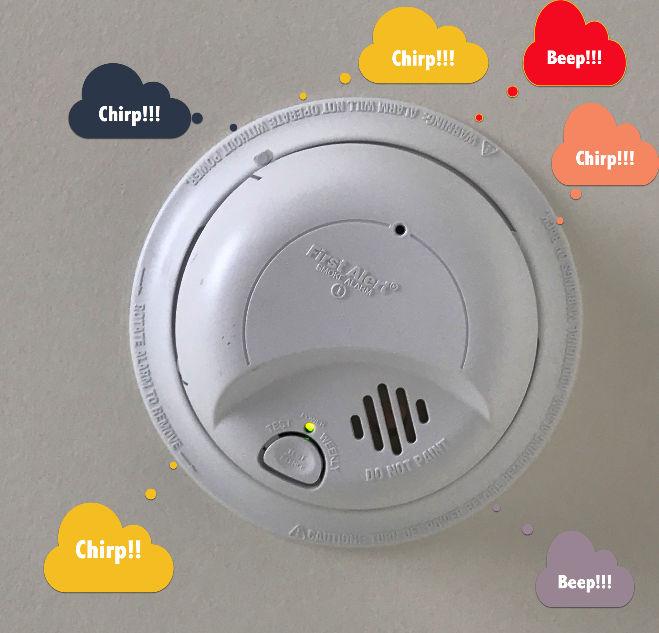 Why is my smoke alarm beeping or chirping intermittently? -Smoke Alarm