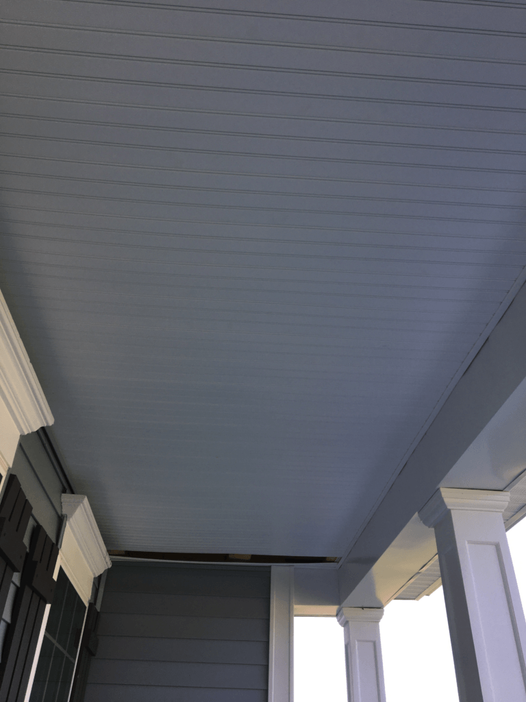 Porch top without swing