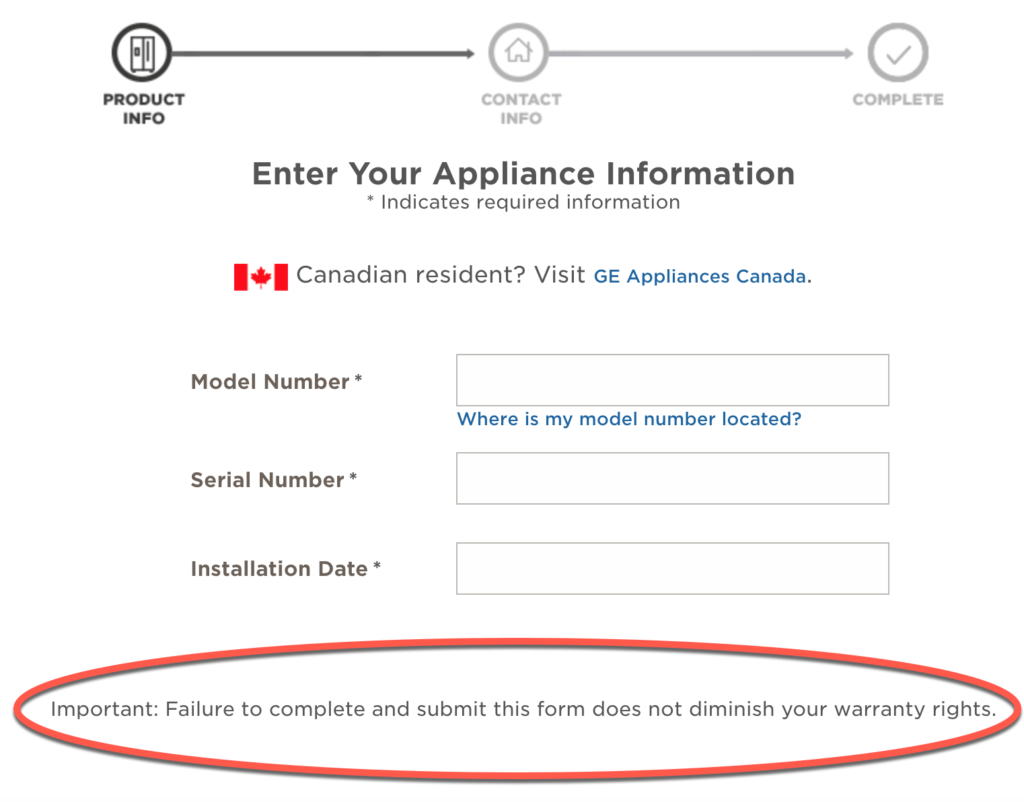 Do you need to register new appliances? - GE registration page online