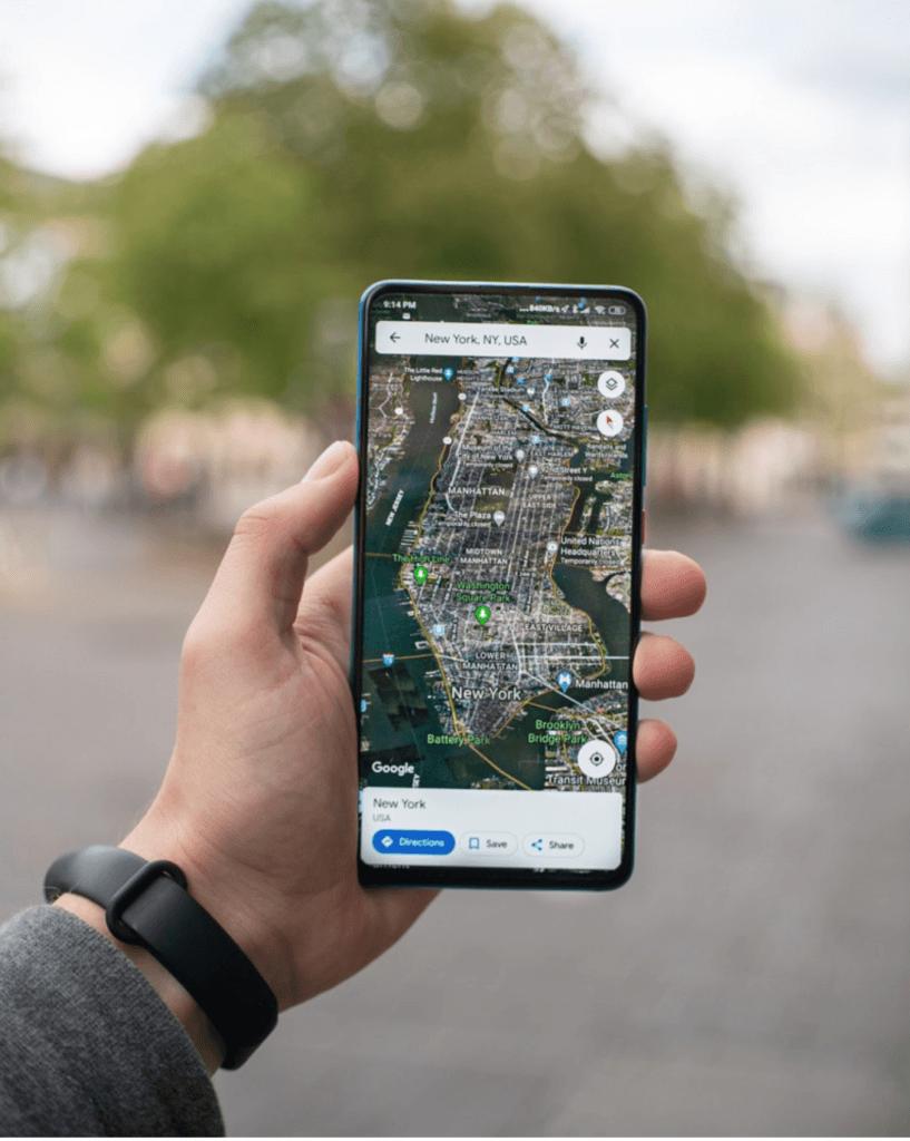 Viewing Google Maps