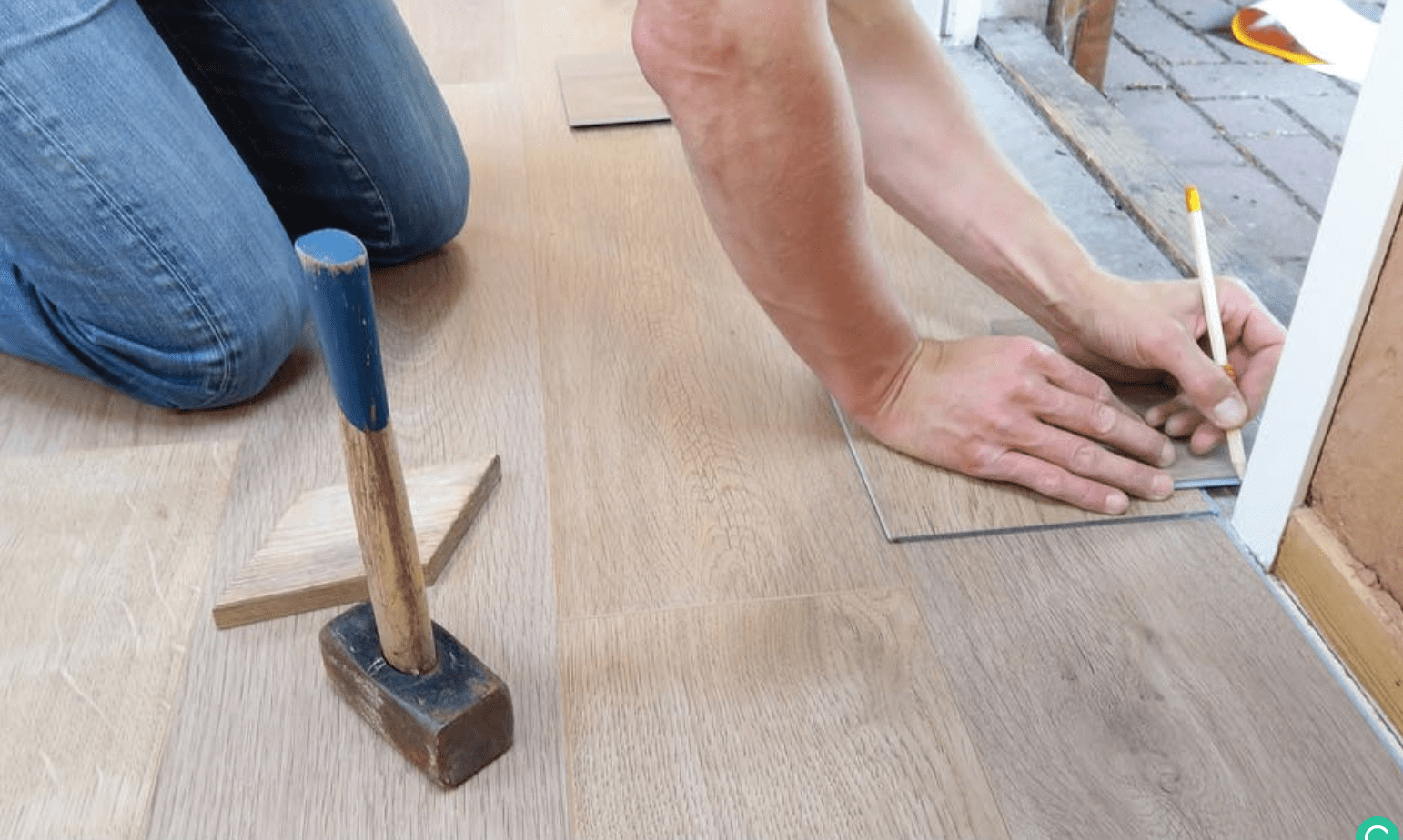 Top cheap ways to finish a basement floor - Measuring tile