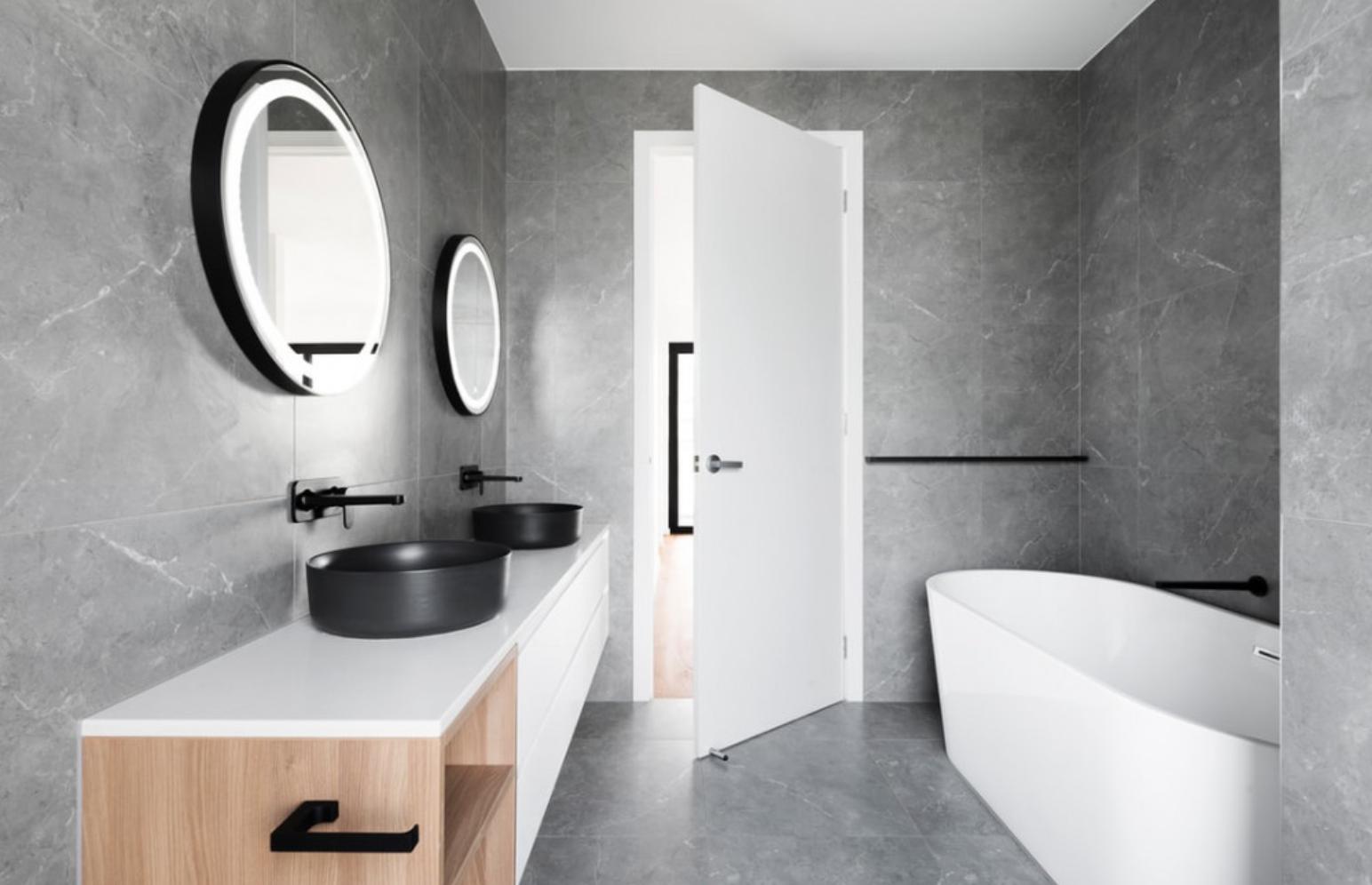 Why Are Bathroom Doors Often Smaller Than Other Doors? - Bathroom with open door