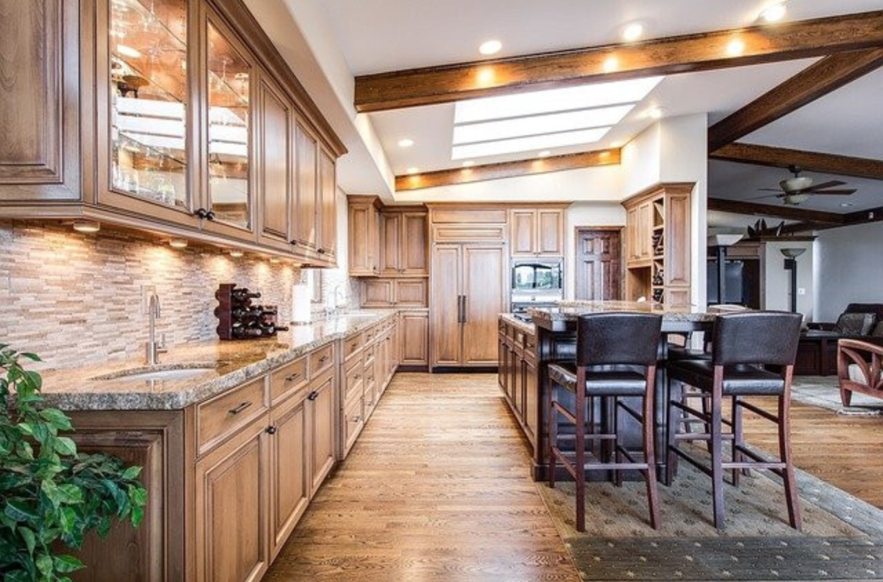 Are Wood Floors Bad in a Kitchen? - Kitchen with wood floor