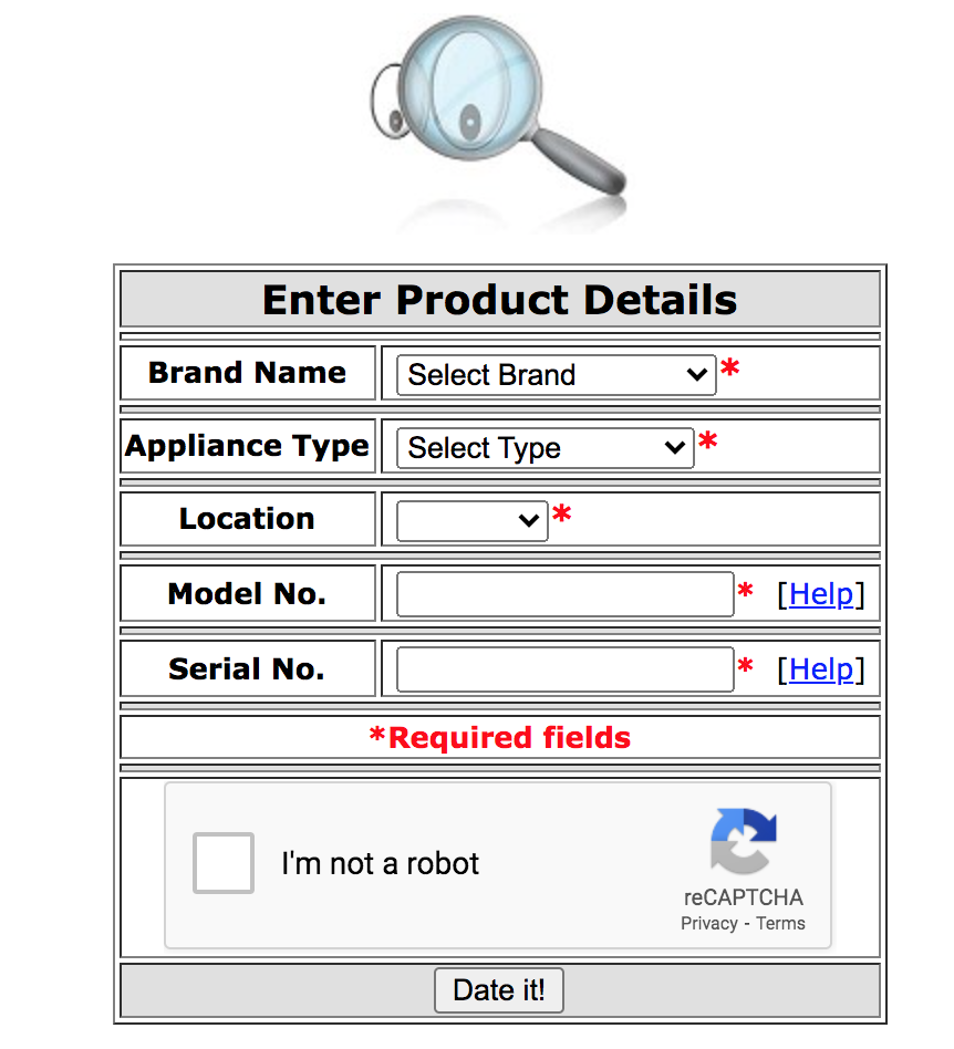 How Can You Tell How Old an Appliance Is? - Date Code Search Tool