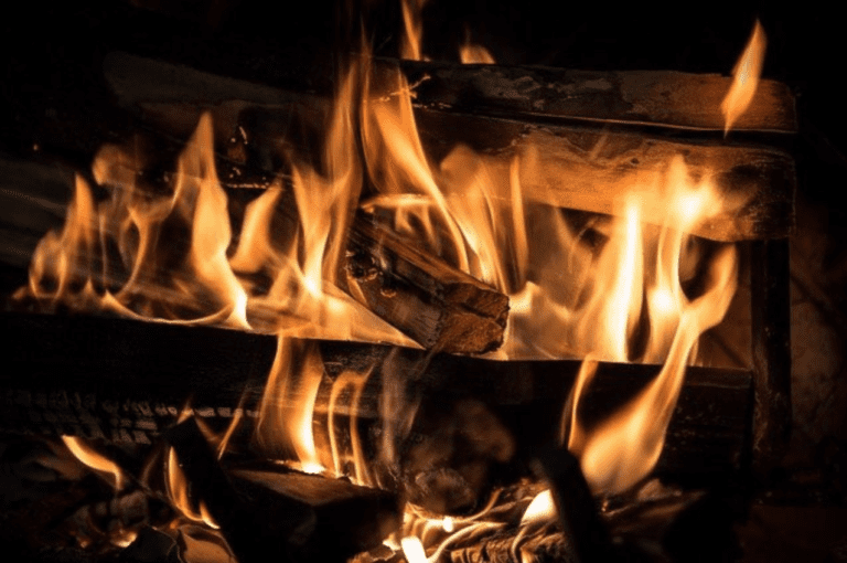 Is It Safe to Leave a Fireplace Burning Overnight? - Fireplace flames