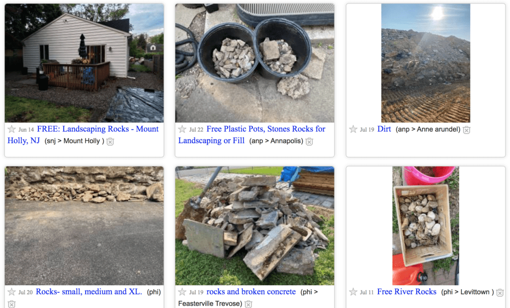 Where Can I Get Free Rocks for My Garden? - Craigslist results for free rocks