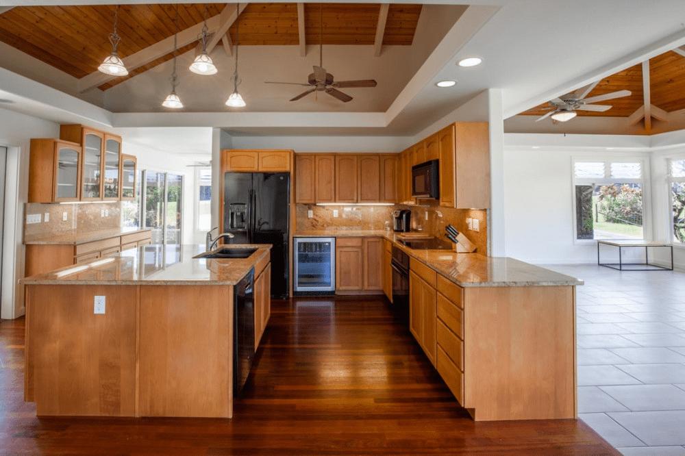 Is a Ceiling Fan in the Kitchen a Good Idea? - Kitchen with Ceiling Fan